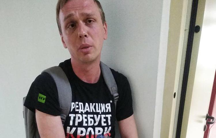 Journalist Ivan Golunov is seen on June 7, 2019, following his detention by Moscow police. (Image via Ivan Kolpakov, used with permission)