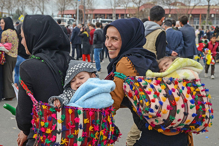 Supporters of the HDP party gather for an election rally in Batman, on March 12. On June 1, a court in the Turkish city handed down a prison sentence for a journalist who died in October. (AFP/Ilyas Akengin)