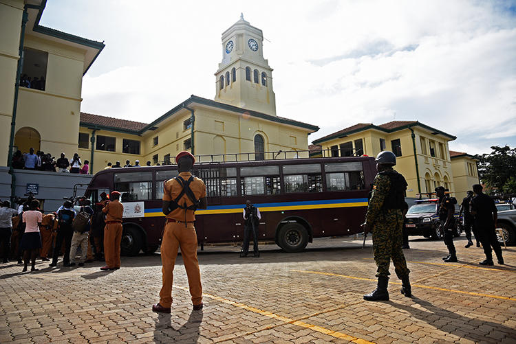 The Uganda High Court is in Kampala on May 14, 2018. CPJ today called for Ugandan authorities to intervene and end the criminal case against editor Pidson Kareire. (AFP/Isaac Kasamani)
