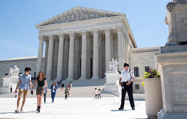 The U.S. Supreme Court is seen in Washington, D.C., on June 24, 2019. A court decision made today will restrict journalists' access to government records. (AFP/Saul Loeb)
