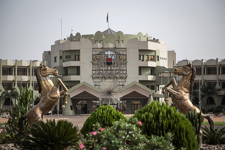 Burkina Faso's presidential palace is seen in Ouagadougou on March 20, 2019. The president and Constitutional Council have the power to prevent the enactment of revisions of the country's penal code that could result in jail time for reporters. (AFP/Olympia de Maismont)