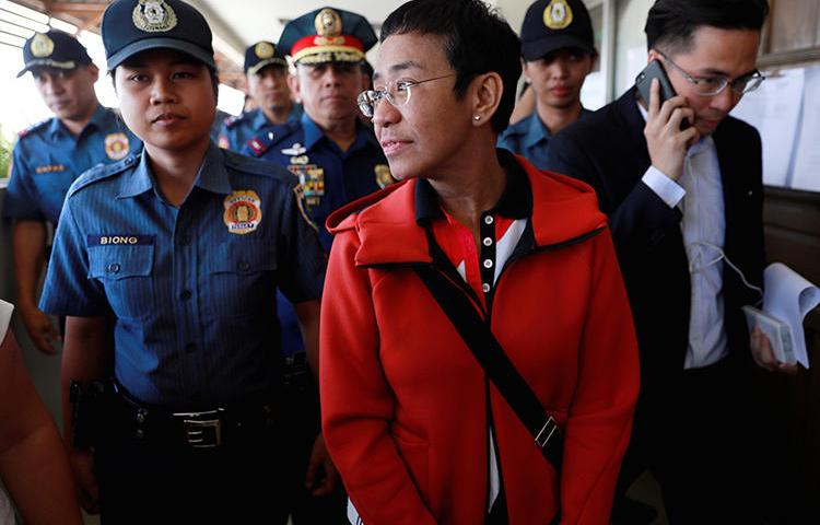 Rappler editor Maria Ressa is seen in Pasig City, Philippines, on March 29, 2019. Ressa's cyber libel trial recently opened in the Philippines. (Reuters/Eloisa Lopez)