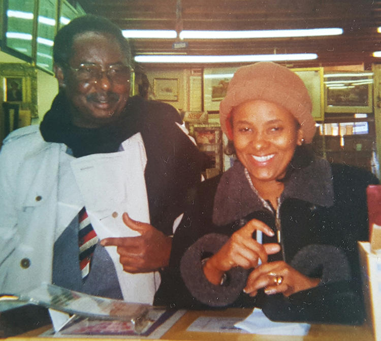 Marie Hydara, pictured with her father, the Gambian journalist Deyda. Maria says her family have had to wait 15 years for confirmation of who ordered her father's murder. (Marie Hydara)