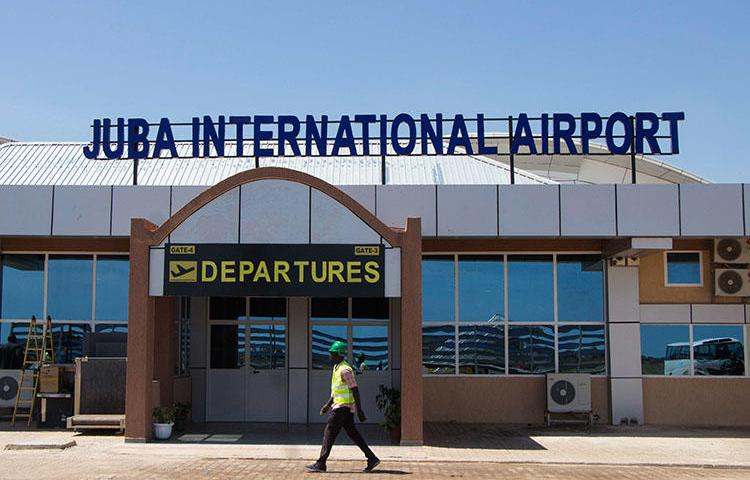 Juba International Airport, pictured in October 2018. Two days before South Sudan's National Security Service detained Al-Watan editor Michael Christopher, the journalist had his passport confiscated at a Juba airport. (AFP/Akuot Chol)