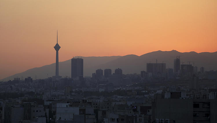 Tehran, Iran, is seen on August 19, 2019. Reporter Marzieh Amiri was recently sentenced to 10.5 years in jail by a Tehran court. (AP/Vahid Salemi)