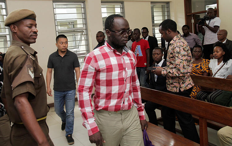 Tanzanian investigative journalist Erick Kabendera is seen in Dar es Salaam on August 19, 2019. Kabendera has experienced health problems while in detention, his lawyer said. (Reuters/Emmanuel Herman)