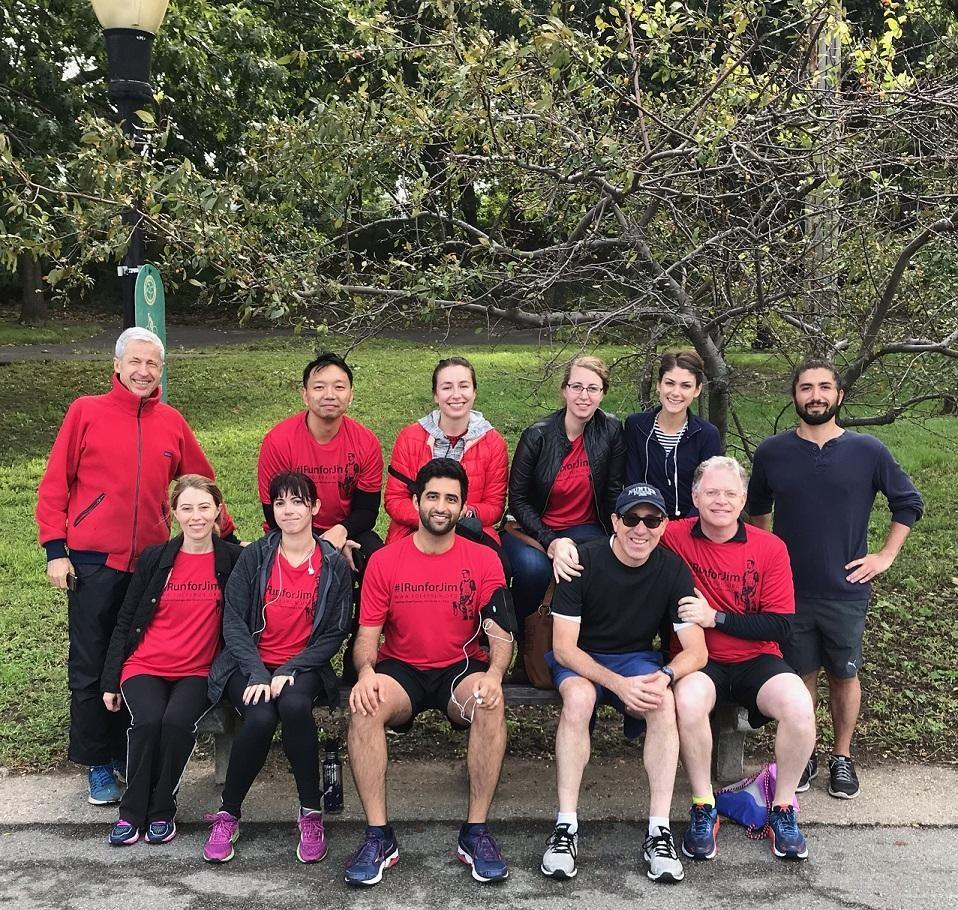 CPJ staff and friends at the James W. Foley run in New York City in 2018. (CPJ)