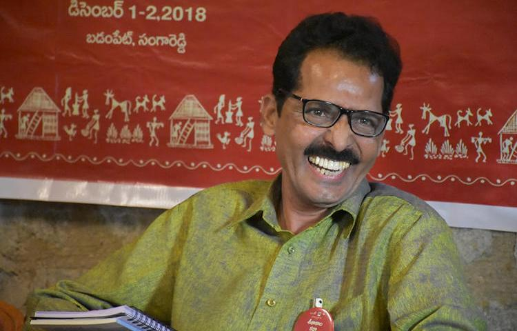Telangana police have accused Nellutla Venugopal, editor of Telugu monthly Veekshanam, of being part of a Maoist conspiracy against the state. (Image via Venugopal)