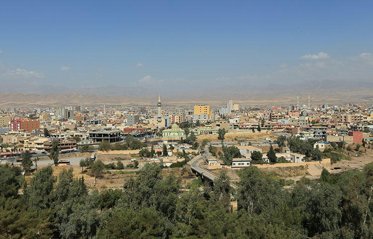 The city of Zakho in Iraq, in October 2017. Kurdish security forces detained a journalist for nearly two weeks in Zakho and Duhok, after he returned from a reporting trip to Syria. (Reuters/Ari Jalal)
