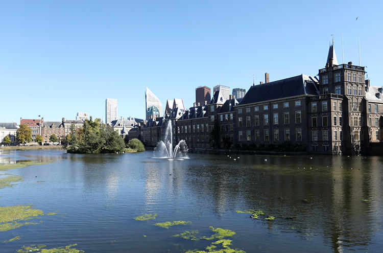 The Dutch Parliament is seen in The Hague, Netherlands, on September 27, 2018. The parliament is considering legislation that could expose journalists to jail time for reporting from terrorist-controlled areas without government permission. (Reuters/Eva Plevier)