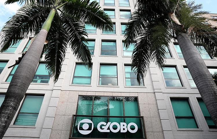 The headquarters of Brazilian television network Rede Globo is seen in Rio de Janeiro on May 3, 2018. Rio Mayor Marcelo Crivella has barred Globo reporters from covering his press conferences. (Reuters/Pilar Olivares)