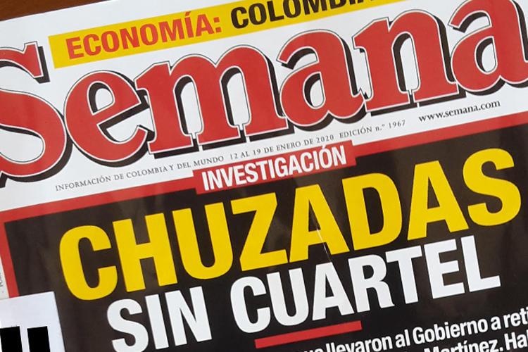 La portada de la revista Semana del 11 de enero de 2020. En su última edición la revista alegaba una campaña militar generalizada de espionaje contra la revista. (Foto por CPJ)