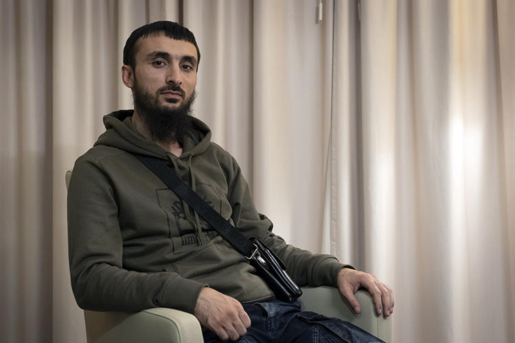 Chechen blogger Tumso Abdurakhmanov is seen in Poland on November 14, 2018. He was recently assaulted in what his brother described as an assassination attempt. (AP/Francesca Ebel)