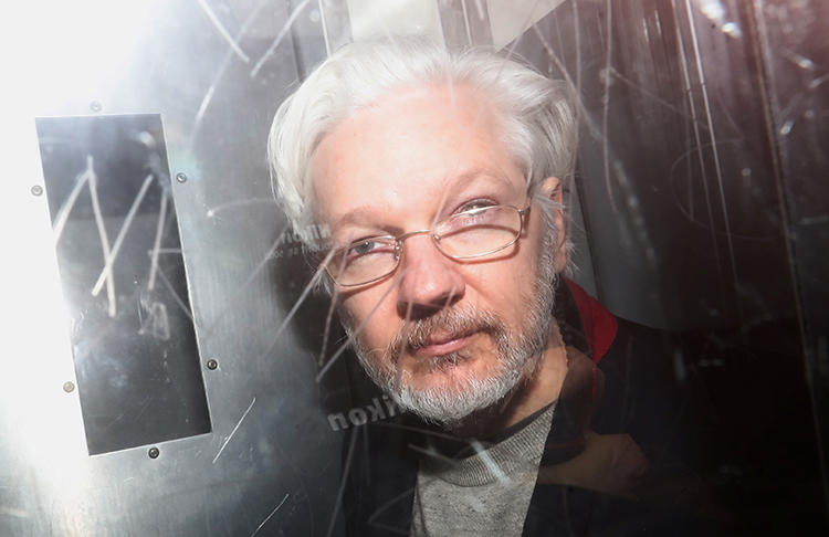 WikiLeaks founder Julian Assange is seen in London on January 13, 2020. Assange is facing extradition to the United States for his work at Wikileaks. (Reuters/Simon Dawson)
