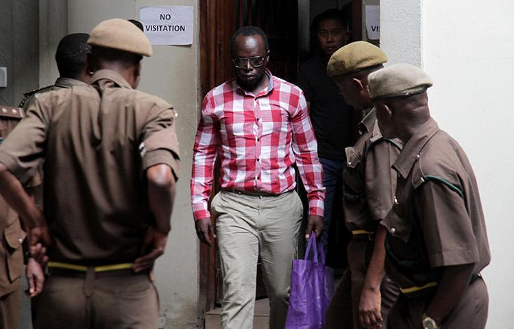Investigative journalist Erick Kabendera is seen in Dar es Salaam, Tanzania, August 19, 2019. Kabendera was released today from detention but faces large fines. (Reuters/Emmanuel Herman)