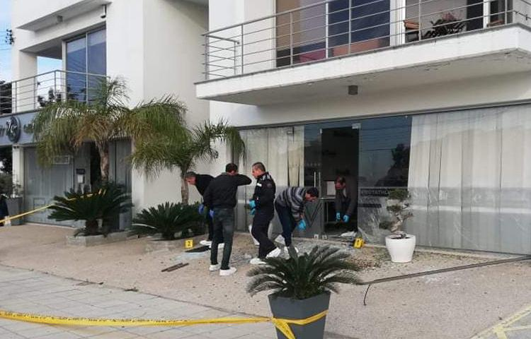 The office of MC Digital Media Group, which owns the Cyprus Times, is seen after a bombing attack on March 4, 2020, in Limassol, Cyprus. (Cyprus Times)