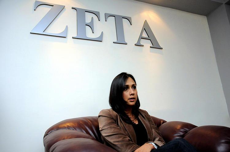 Adela Navarro Bello is seen at the Zeta headquarters on June 28, 2011. (AFP/Ruben Victorio)