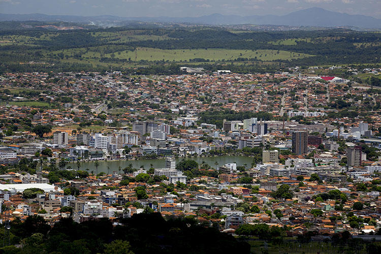 The city of Sete Lagoas, Brazil, is shown in a Feb. 4, 2014 photo. A radio journalist's home was attacked in a drive-by shooting on April 9, 2020, in the city. (AP Photo/Bruno Magalhaes)