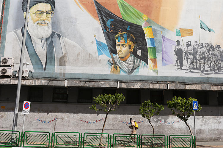 Tehran, Iran, is seen on April 3, 2020. Journalist Nejat Bahrami recently began a one-year jail term in Tehran for his work. (West Asia News Agency/Ali Khara via Reuters)