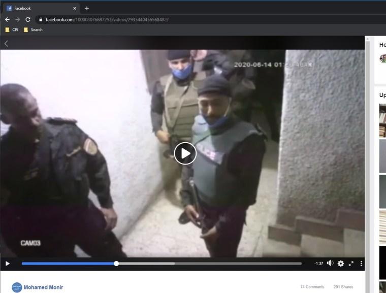 Police at Monir's apartment