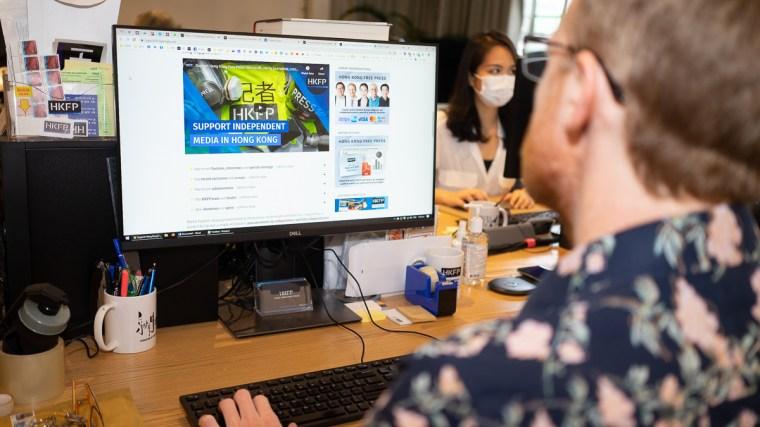 Newsroom of Hong Kong Free Press