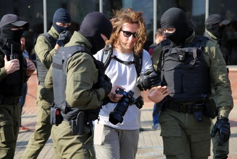 Belarus journalist detained
