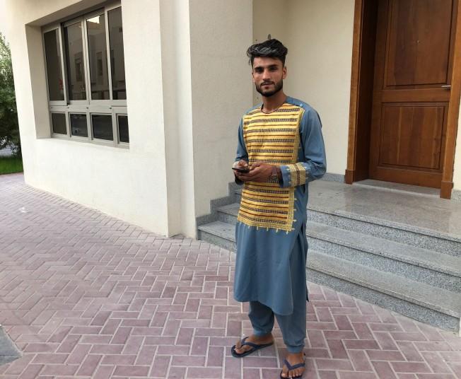 Afghan radio journalist Abdul Khalid Andish in Doha, Qatar